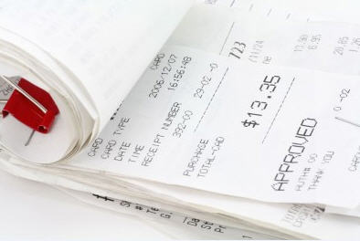 BPA is present in store receipts.