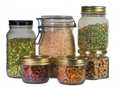 Use glass jars for food storage