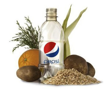 pepsico plastic bottle made from natural products
